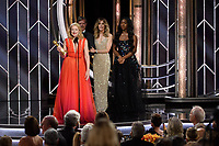 Patricia Clarkson accepts the Golden Globe Award for BEST PERFORMANCE BY AN ACTRESS IN A SUPPORTING ROLE IN A SERIES, LIMITED SERIES OR MOTION PICTURE MADE FOR TELEVISION for her role in &quot;Sharp Objects&quot; at the 76th Annual Golden Globe Awards at the Beverly Hilton in Beverly Hills, CA on Sunday, January 6, 2019.<br /> *Editorial Use Only*<br /> CAP/PLF/HFPA<br /> Image supplied by Capital Pictures