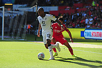 Andre Ayew of Swansea City in action during the Sky Bet Championship match between Swansea City and Nottingham Forest at the Liberty Stadium in Swansea, Wales, UK. Saturday 14 September 2019
