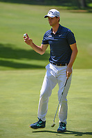 Thomas Pieters (BEL) after sinking his putt on 1 during round 3 of the World Golf Championships, Mexico, Club De Golf Chapultepec, Mexico City, Mexico. 3/3/2018.<br /> Picture: Golffile | Ken Murray<br /> <br /> <br /> All photo usage must carry mandatory copyright credit (&copy; Golffile | Ken Murray)