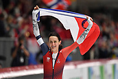 7th February 2019, Max Aicher Arena, Inzell, Germany;  World speed skating championships; Martina SABLIKOVA (CZE), celebrates her win in the Ladies 3000m