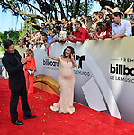CORAL GABLES, FL - APRIL 28: Karla Gomez and Carolina Sandoval arrives at the Billboard Latin Music Awards at the BanKUnited Center on Thursday April 28, 2016 in Miami, Florida.  ( Photo by Johnny Louis / jlnphotography.com )