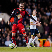 LONDON, ENGLAND - MARCH 04:  Gylfi Sigurosson of Swansea City  in action  during the Premier League match between Tottenham Hotspur and Swansea City at White Hart Lane on March 4, 2015 in London, England.  (Photo by Athena Pictures )