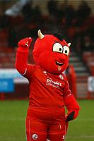 Crawley mascot Reggie the Red during Crawley Town vs Carlisle United, Sky Bet EFL League 2 Football at Broadfield Stadium on 15th February 2020