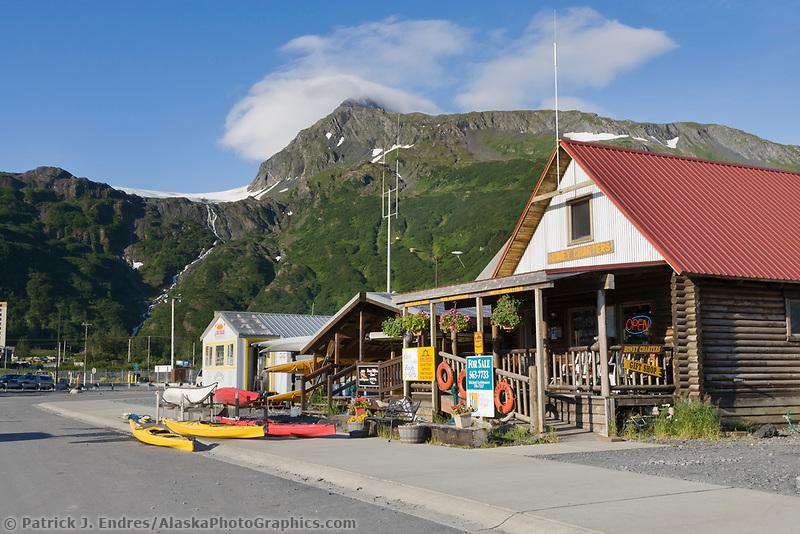 Coastal town of Whittier, southcentral, Alaska.