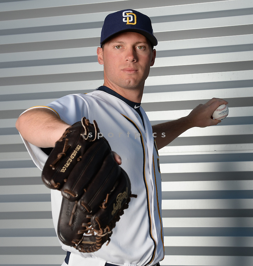 San Diego Padres Robbie Erlin (41) during photo day on February 26, 2016 in Peoria, AZ.