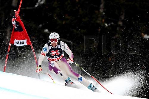 29 12 2009  Ski Alpine FIS WC Bormio Dowmhill  men Bormio Italy 29 Dec 09 Ski Alpine FIS World Cup Dowmhill  for men Picture shows Marco Buechel Lie .