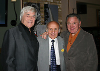 Sammy McCarthy, former British Featherweight Champion between 1954 and 1955, pictured at a celebration for his 80th Birthday with Colin Hart (L) and Bobby Neill