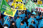 Global Day of Action - March to the Bella Center (Images free for Editorial Web usage for Fresh Air Participants during COP 15. Credit: Robert vanWaarden)