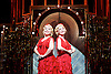 Side Show <br /> at Southwark Playhouse, London, Great Britain <br /> 25th October 2016 <br /> <br /> Louise Dearman and Laura Pitt-Pulford as conjoined twins Daisy and Violet Hilton<br /> Side Show is presented by Paul Taylor-Mills<br /> Music composed by Henry Krieger<br /> Book and Lyrics by Bill Russell<br /> Additional Book material is by Bill Condon<br /> Directed by Hannah Chissick<br /> Choreography by Matthew Cole <br /> Design by takis <br /> Musical direction by Jo Cichonska<br /> Sound design by Dan Simpson<br /> <br /> <br /> Photograph by Elliott Franks <br /> Image licensed to Elliott Franks Photography Services