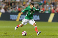 Bridgeview, IL, USA - Tuesday, October 11, 2016: Mexico midfielder Orbelin Pineda (22) during an international friendly soccer match between Mexico and Panama at Toyota Park. Mexico won 1-0.