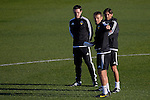 Head coach Gary Neville (l) and brother Phil (c) take training - UEFA Champions League -  Official pre match Training Session and press conference - Valencia CF vs Lyon  - Paterna Training Ground - Valencia - Spain - 8th December 2015 - Pic David Aliaga/Sportimage