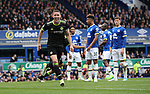 Gary Cahill of Chelsea celebrates scoring during the English Premier League match at Goodison Park , Liverpool. Picture date: April 27th, 2016. Photo credit should read: Lynne Cameron/Sportimage