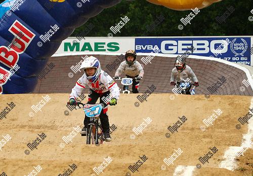 2012-06-03 /  BMX / Dessel / Topcompetitie / Nette Coppens van de Desselse bmx club  met ruime voorsprong aan de leiding.