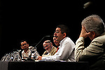 (L to R) Jordi GArcia, Alvaro Pombo Borja Baselga, Jordi Amat, Santos Julia in the Essential Notebooks´s release of Santander Bank Fundation at Instiuto de Cervantes.Madrid 26 june 2012.(ALTERPHOTOS/ARNEDO)