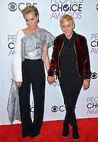 Ellen DeGeneres &amp; Portia de Rossi at the 2017 People's Choice Awards at The Microsoft Theatre, L.A. Live, Los Angeles, USA 18th January  2017<br /> Picture: Paul Smith/Featureflash/SilverHub 0208 004 5359 sales@silverhubmedia.com