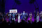 Tommy Bracco and Jerry Mitchell with cast during the Curtain Call for the Garry Marshall Tribute Performance of 'Pretty Woman:The Musical' at the Nederlander Theatre on August 2, 2018 in New York City.