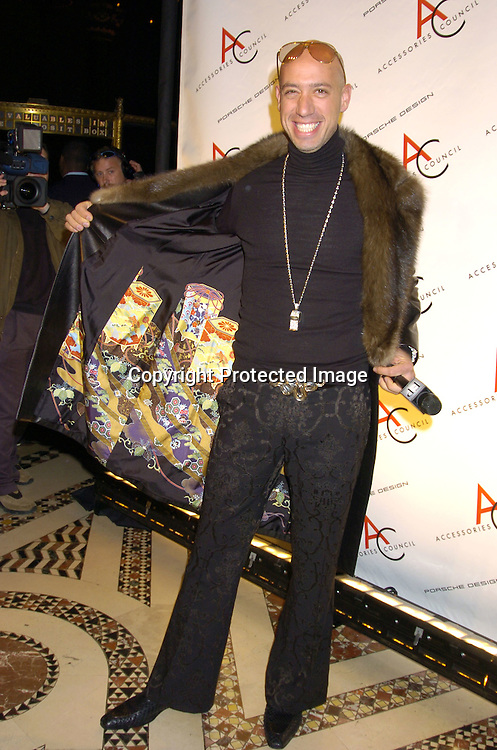 Robert Verdi  ..at The Accessories Council 8th Annual ACE Awards on ..November 1, 2004 at Cipriani 42nd Street. ..Photo by Robin Platzer, Twin Images