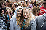 © Joel Goodman - 07973 332324 . 06/06/2015. Manchester , UK . Two women in the audience in front of the main stage at The Parklife 2015 music festival in Heaton Park , Manchester . Photo credit : Joel Goodman
