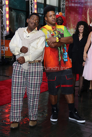 NEW YORK, NY- OCTOBER 31: Al Roker as Carlton Banks and Craig Melvin as Will Smith of The Fresh Prince Of Bel-Aire at NBC's Today Show Annual Halloween Episode at Rockefeller Center in New York City on October 31, 2019. credit: RW/MediaPunch