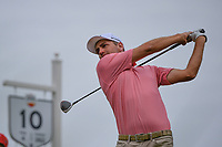 Brendon Todd (USA) watches his tee shot on 10 during round 4 of the 2019 Houston Open, Golf Club of Houston, Houston, Texas, USA. 10/13/2019.<br /> Picture Ken Murray / Golffile.ie<br /> <br /> All photo usage must carry mandatory copyright credit (© Golffile | Ken Murray)