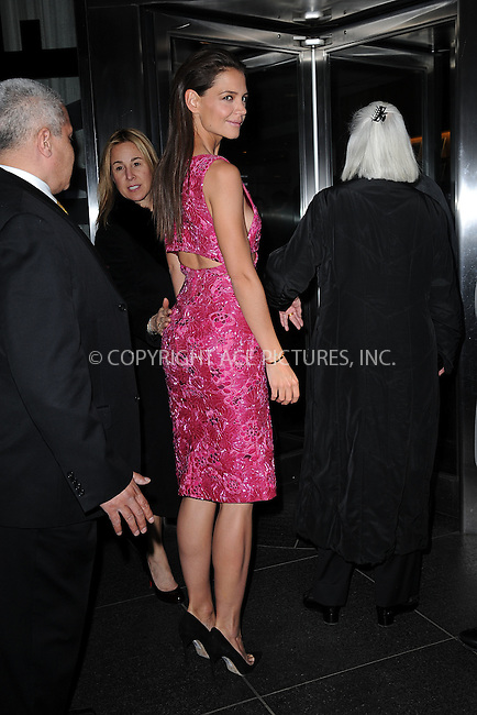 WWW.ACEPIXS.COM<br /> March 30, 2015 New York City<br /> <br /> Katie Holmes arrives to a screening of  Woman in Gold at the MoMa on March 30, 2015 in New York City. <br /> <br /> By Line: Kristin Callahan/ACE Pictures<br /> ACE Pictures, Inc.<br /> tel: 646 769 0430<br /> Email: info@acepixs.com<br /> www.acepixs.com