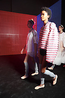 MONCLER GAMME ROUGE<br /> backstage at Spring/Summer 2018 Ready-to-Wear Fashion Show at Paris Fashion Week in Paris, France in October 2017.<br /> CAP/GOL<br /> &copy;GOL/Capital Pictures