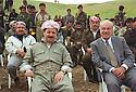 Iraq 1998.Celebration of Nowruz near Salaheddin: Masoud Barzani and Mohsen Dizai.Irak 1998.Fete de Nowruz a cote de Salaheddin: Masoud Barzani et Mohsen Dizai
