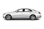Car Driver side profile view of a 2018 Mercedes Benz E-Class E300 4 Door Sedan Side View