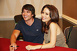 Dominic Zamprogna - Lisa LoCiero - General Hospital (son & mother) came to Uncle Vinny's/Ferraras at the Crown Plaza in Trevose, Pennsylvania on April 22, 2010 to see fans with a q & a and autographs and taking of photos. (Photo by Sue Coflin/Max Photos0