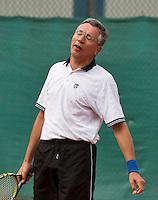 2013,August 24,Netherlands, Amstelveen,  TV de Kegel, Tennis, NVK 2013, National Veterans Tennis Championships,   Rolf Thung<br /> Photo: Henk Koster