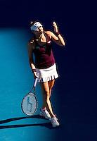 Vera Zvonereva (RUS) (2) against Kim Clijsters (BEL) (3) in the Semi-Finals of the women's singles. Kim Clijsters beat Vera Zvonereva 6-3 6-3..International Tennis - Australian Open  -  Melbourne Park - Melbourne - Day 11 - Thu 27th January 2011..© Frey - AMN Images, Level 1, Barry House, 20-22 Worple Road, London, SW19 4DH.Tel - +44 208 947 0100.Email - Mfrey@advantagemedianet.com.Web - www.amnimages.photshelter.com