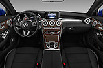 Stock photo of straight dashboard view of 2017 Mercedes Benz C-Class C-300 2 Door Convertible Dashboard