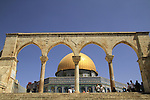 Israel, Jerusalem, a Qanatir in front of the Dome of the Rock at Haram esh Sharif