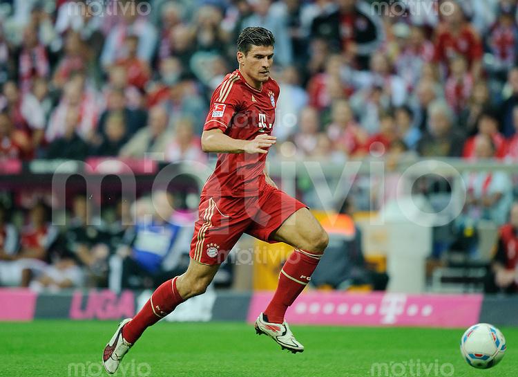 Fussball Bundesliga Saison 2011/2012 7. Spieltag FC Bayern Muenchen - Bayer 04 Leverkusen Mario GOMEZ (FCB).