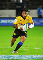 Ma'a Nonu on attack during the Super Rugby match between the Hurricanes and Blues at FMG Stadium, Palmerston North, New Zealand on Friday, 13 March 2015. Photo: Dave Lintott / lintottphoto.co.nz