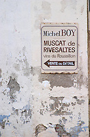 Micel Boy. Rivesaltes town, Roussillon, France