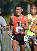 Nov 14, 2015; Claremont, CA, USA; Aaron Sugimoto of Occidental (339) runs during the 2015 NCAA Division III West Regionals cross country championships at Pomona-Pitzer College. (Freelance photo by Kirby Lee)