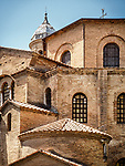 Basilica of San Vitale church, Ravenna, Italy<br /> <br /> 6th century byzantine church and mosaics