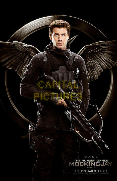 POSTER ART with Liam Hemsworth as Gale Hawthorne<br /> in The Hunger Games - Mockingjay - Part 1 (2014) <br /> *Filmstill - Editorial Use Only*<br /> CAP/NFS<br /> Image supplied by Capital Pictures