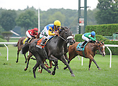 Nehantic Kat and Rajiv Maragh win the Yaddo Stakes on Aug. 23, 2009