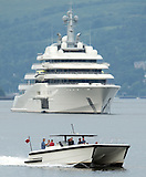 01 07 2015 Roman Abramovich Yacht Images Kenny Ramsay Archive