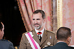 King Felipe VI of Spain attends the 2015 Armed Forces Day Ceremony. June 6,2015. (ALTERPHOTOS/Pool)