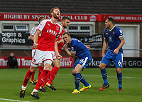 Fleetwood Town's Cian Bolger rues a near miss <br /> <br /> Photographer Andrew Kearns/CameraSport<br /> <br /> The Carabao Cup First Round - Fleetwood Town v Carlisle United Kingdom - Tuesday 8th August 2017 - Highbury Stadium - Fleetwood<br />  <br /> World Copyright &copy; 2017 CameraSport. All rights reserved. 43 Linden Ave. Countesthorpe. Leicester. England. LE8 5PG - Tel: +44 (0) 116 277 4147 - admin@camerasport.com - www.camerasport.com