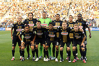 Philadelphia Union starting eleven. The Philadelphia Union  and the Los Angeles Galaxy played to a 1-1 tie during a Major League Soccer (MLS) match at PPL Park in Chester, PA, on May 11, 2011.