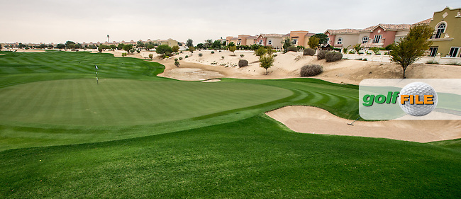 12th green at The Els Club , Dubai, United Arab Emirates.  28/01/2016. Picture: Golffile | David Lloyd<br /> <br /> All photos usage must carry mandatory copyright credit (&copy; Golffile | David Lloyd)