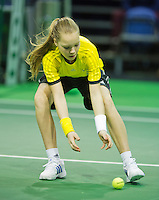 10-02-13, Tennis, Rotterdam, qualification ABNAMROWTT, Ballgirl