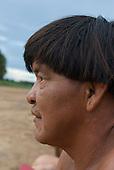 Xingu Indigenous Park, Mato Grosso State, Brazil. Aldeia Kamaiura. Cacique Kotoki.