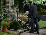 Joseph and Frank Ledwidge lay a wreath at the Francis Ledwidge centenary commemerations at Ledwidge cottage Slane.  Photo:Colin Bell/pressphotos.ie
