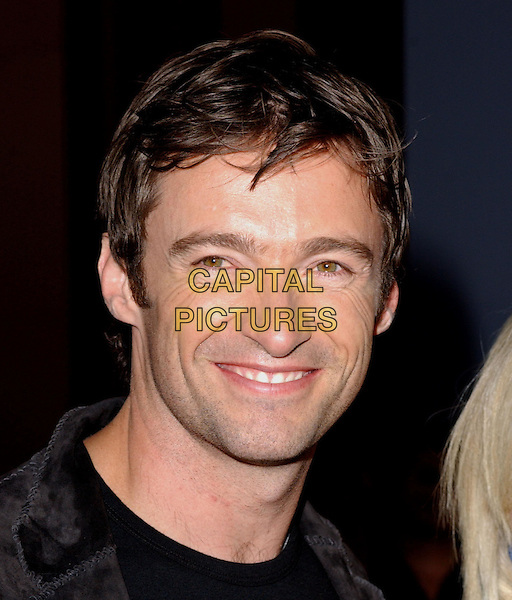 HUGH JACKMAN .Attending the world premiere of movie Van Helsing at The Universal City Walk in Universal City, California..May 3rd 2004.portrait headshot smiling.*UK sales only*.www.capitalpictures.com.sales@capitalpictures.com.©Capital Pictures