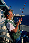 Fisherman at Santa Cruz Wharf, Santa Cruz, CALIFORNIA